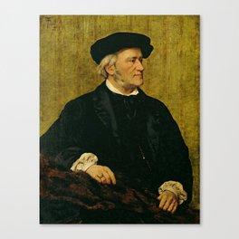 Richard Wagner (1813 – 1883) by Giuseppe Tivoli (b.1845) Canvas Print