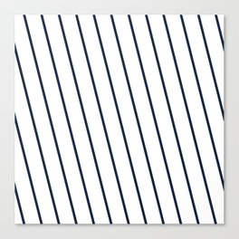 Yacht style. Navy blue diagonal stripes. Canvas Print