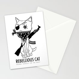 Rebellious Cat Stationery Cards