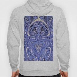 Mirror Blue Oil Gestalt Abstract II Hoody