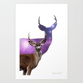 Spaced Out Deer Art Print