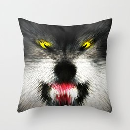MAD WOLF Throw Pillow