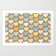 hearts pattern Art Print