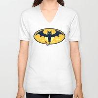 nightwing V-neck T-shirts featuring Nightwing by jekonu