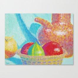 Corbeille de fruits Canvas Print