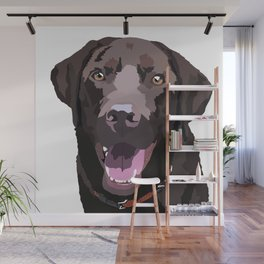 Libby the Chocolate Lab Wall Mural
