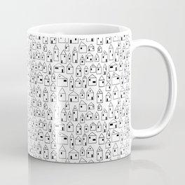 Minimalist Houses Smaller Pattern Coffee Mug