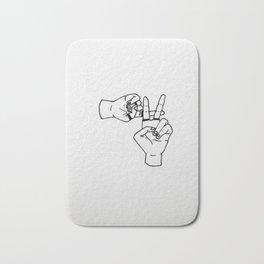 clique hand sign Bath Mat