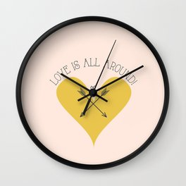 Love is all around Wall Clock