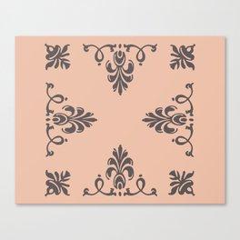 Rococo Floral Elements I Canvas Print