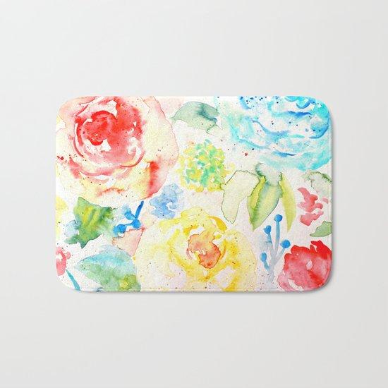 Abstract Flowers 06 Bath Mat