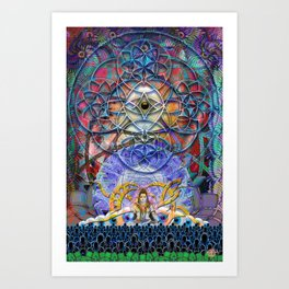 Space Shiva Art Print