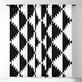 Aztec 3 B&W Blackout Curtain