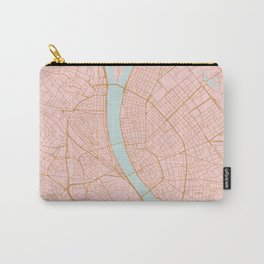 Budapest map, Hungary Carry-All Pouch