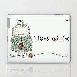 I love knitting Laptop & iPad Skin