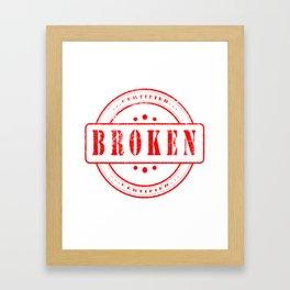 Broken Hearted Stamp Status Realtionship Framed Art Print