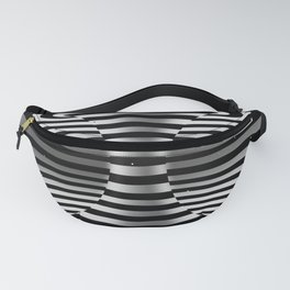 Connected channel (b-w) Fanny Pack