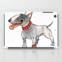 bull terrier iPad Cases featuring Bull Terrier by Paola Canti