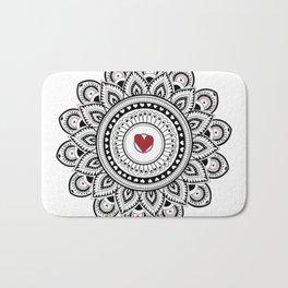 Mandala true love Bath Mat