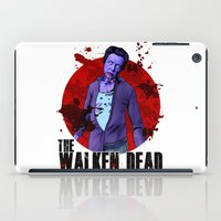 christopher walken iPad Cases featuring The Walken Dead – The Walking Dead Parody – Christopher Walken Zombie by ptelling