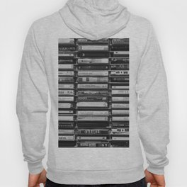 Cassette Tapes Pattern (Black and White) Hoody