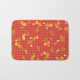 Dancing Drumstick with Rabbit Face No.2 Bath Mat