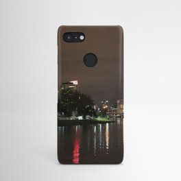 Melbourne skyline at night Android Case