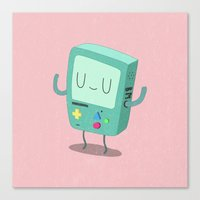 bmo Canvas Prints featuring BMO by Rod Perich