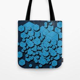 3D Futuristic Cubes VIII Tote Bag