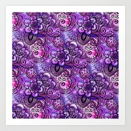 Purple Paisley Vision Art Print