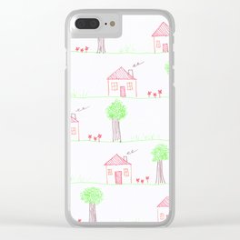 House Pattern Clear iPhone Case