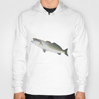 trout Hoodies featuring Dad's Speckled trout by Kyle Ellsworth