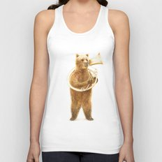 The Bear and his Helicon Unisex Tank Top