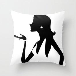 Fashion Girl Pattern Throw Pillow