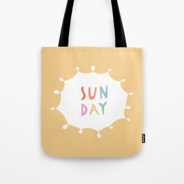 Sunday in Yellow Tote Bag