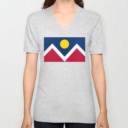 Denver City Flag - Authentic High Quality Unisex V-Neck