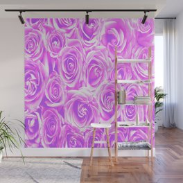 Lovely purple and pink roses Wall Mural