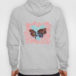 Be My Valentine Kissing Boxers Hoody