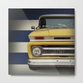 Yellow Sub Chevy Metal Print