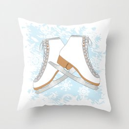 Ice skates Throw Pillow
