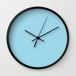 Pink on ice Pattern Wall Clock
