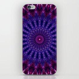 Bohemian mandala in pink and violet colors iPhone Skin