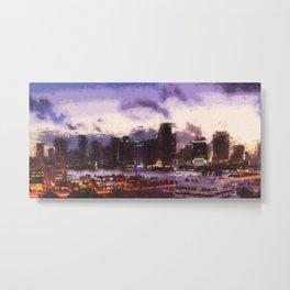 Miami Cityscape Metal Print