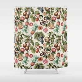 Fruitful Florals, Vintage Prints Food Shower Curtain