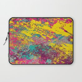 Abstract TexTure Uno - Pink, Purple, Blue And Yellow Laptop Sleeve