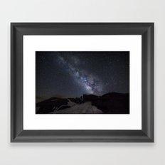 Milkyway at the mountains. Scorpius and Sagitarius Framed Art Print