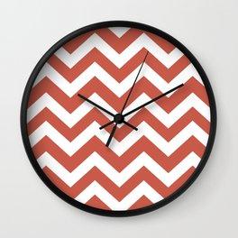 Cedar Chest - pink color - Zigzag Chevron Pattern Wall Clock