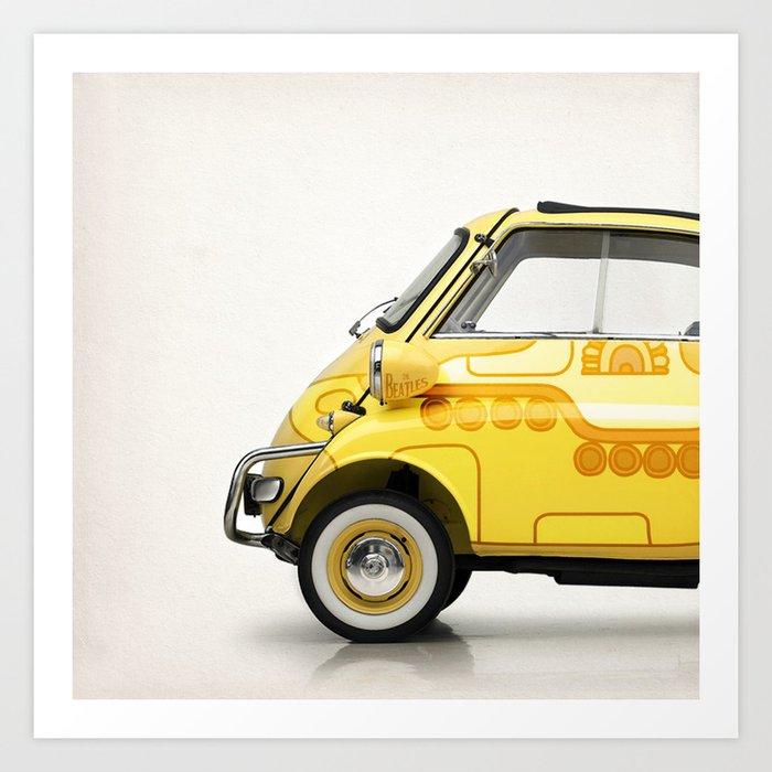 Yellow Submaretta Art Print