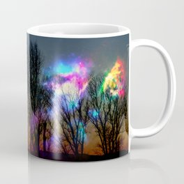nebula in the naked trees Coffee Mug