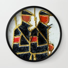 Russian Soldiers 1917 Russian Lapel Pin Wall Clock